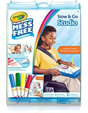 Crayola, Color Wonder Mess-Free Colouring, Stow & Go Studio, Art Tools, Activity Book and Markers, Storage Case, Great for Travel, Mess Free Colouring, Washable, No Mess, for Girls and Boys, Gift for Boys and Girls, Kids, Ages 3, 4, 5,6 and Up, Summer Travel, Cottage, Camping, on-the-go,  Arts and Crafts,
