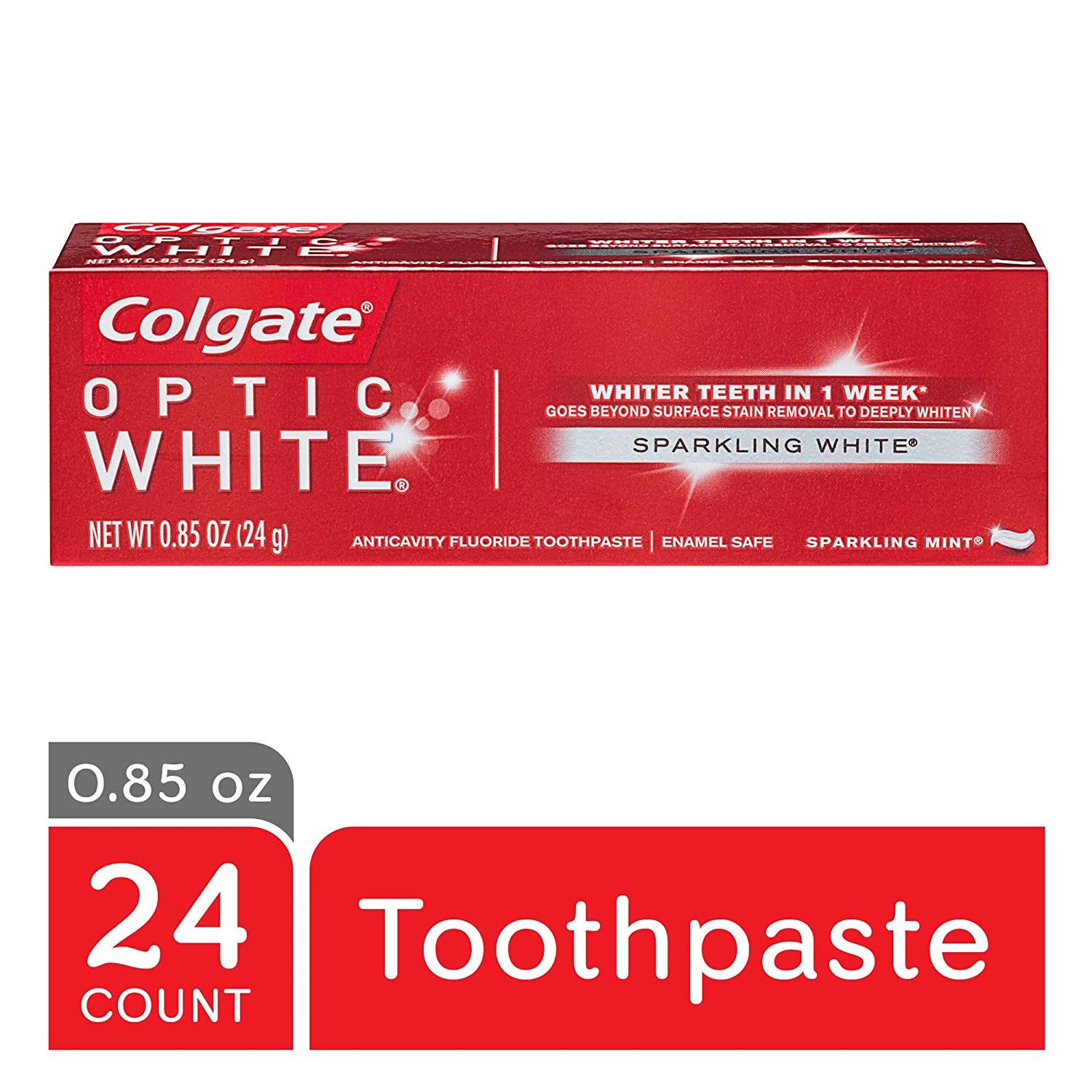 Amazon Com Colgate Optic White Whitening Toothpaste Sparkling