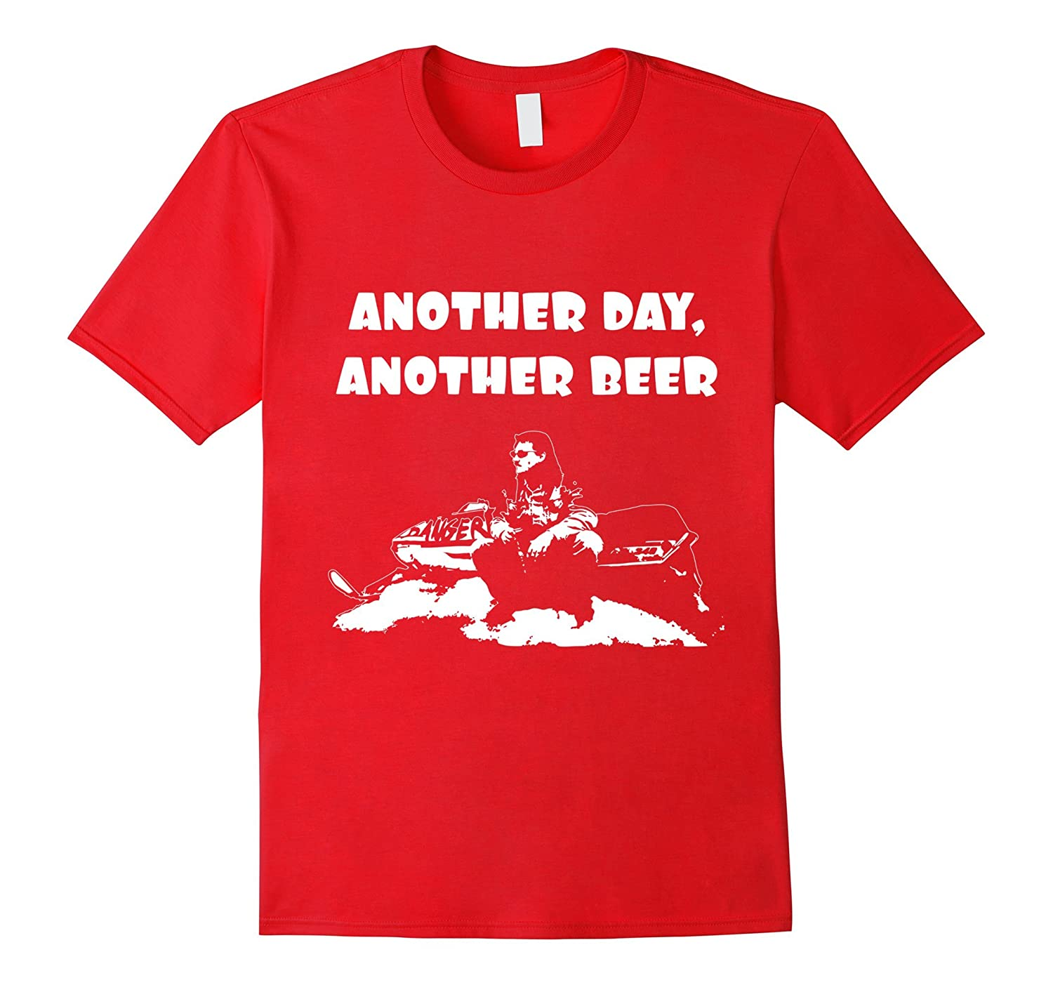 Another Day Another Beer Snowmobile T-Shirt-Vaci