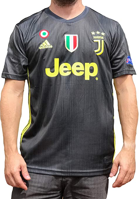 big sale 7aa9d 7ec02 Juventus Ronaldo No.#7 Soccer Jersey 2018 2019 Serie A Calcio d'Italia -  New Black and White Home Soccer Jersey 2019