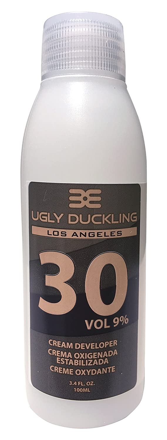 Ugly Duckling Los Angeles Professional 10 Vol. (3%) Cream Developer 33 oz (1 liter). For salon use, large size. For level on level and tone-down applications. Made in Europe