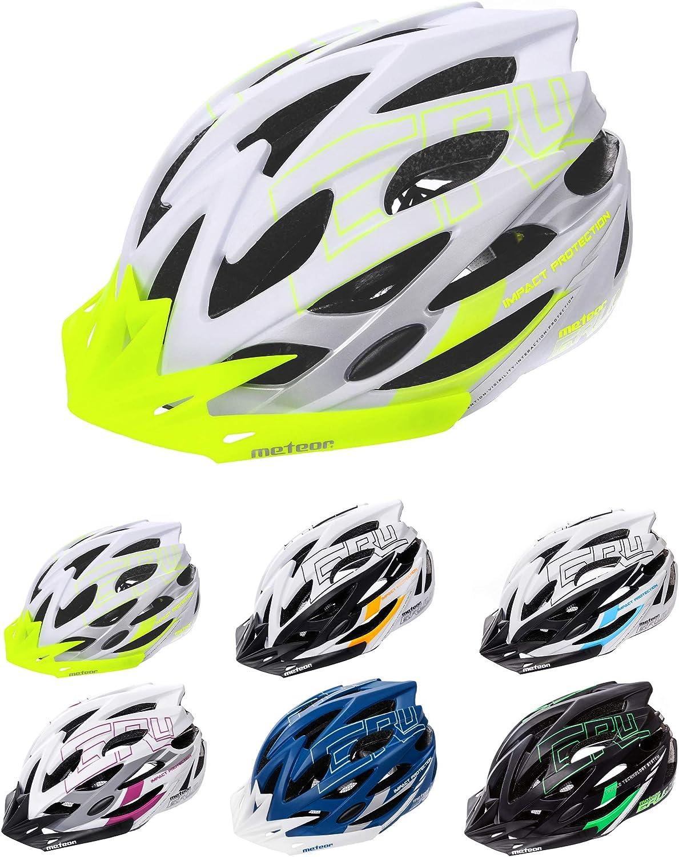 meteor/® Casco Bicicleta Helmet de Bici para j/óvenes y Adultos para Ciclismo MTB Road Race Monta/ña BMX Carretera y Otras Formas de Actividad Ciclista Casco Protecci/ón Gruver