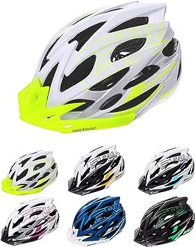 meteor Cascos Casco Bicicleta Casco Helmet Casco Bici Casco Bicicleta Adulto Skate Ciclismo Bicicleta Patineta Patines Monopatines Bici Accesorios Casco (L (58-61 cm), Blanco/Verde): Amazon.es: Deportes y aire libre
