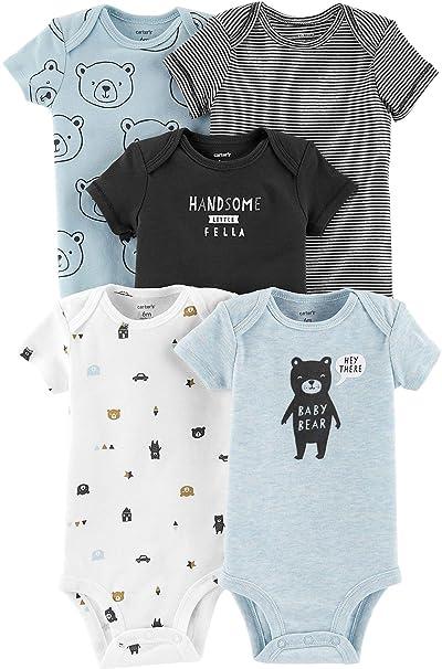 a15d29d84eff Carter s Baby Boys  5-Pack Short-Sleeve Original Bodysuits (Blue Bear
