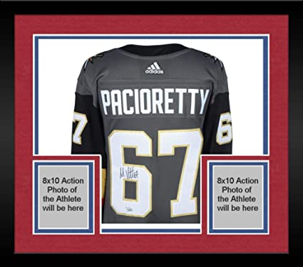 brand new aee26 656ba Framed Max Pacioretty Vegas Golden Knights Autographed Black ...