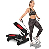 Sportstech 2in1 Twister Stepper with Power Ropes - STX300 Swing Stepper & Sidestepper for beginners & advanced users, up-down-stepper with multifunction display, hometrainer with adjustable resistance