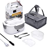 Electric Lunch Box Food Heater - FORABEST 2-in-1 Portable Food Warmer Lunch Box for Car & Home – Leak Proof, 2 Compartments,