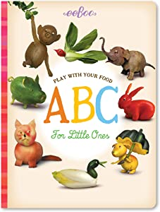 eeBoo Play with Your Food ABC for Little Ones Board Book