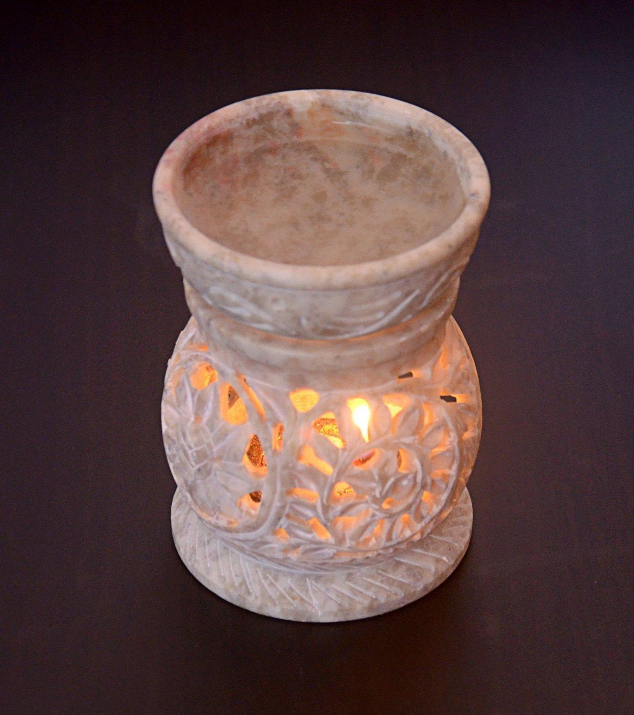 Hashcart tradizionale lanterna portacandela/Pietra ollare candela tealight set/Designer portacandela stand/tavolo decorativo portacandele per casa e ufficio del salone NK-ST-TL-1001