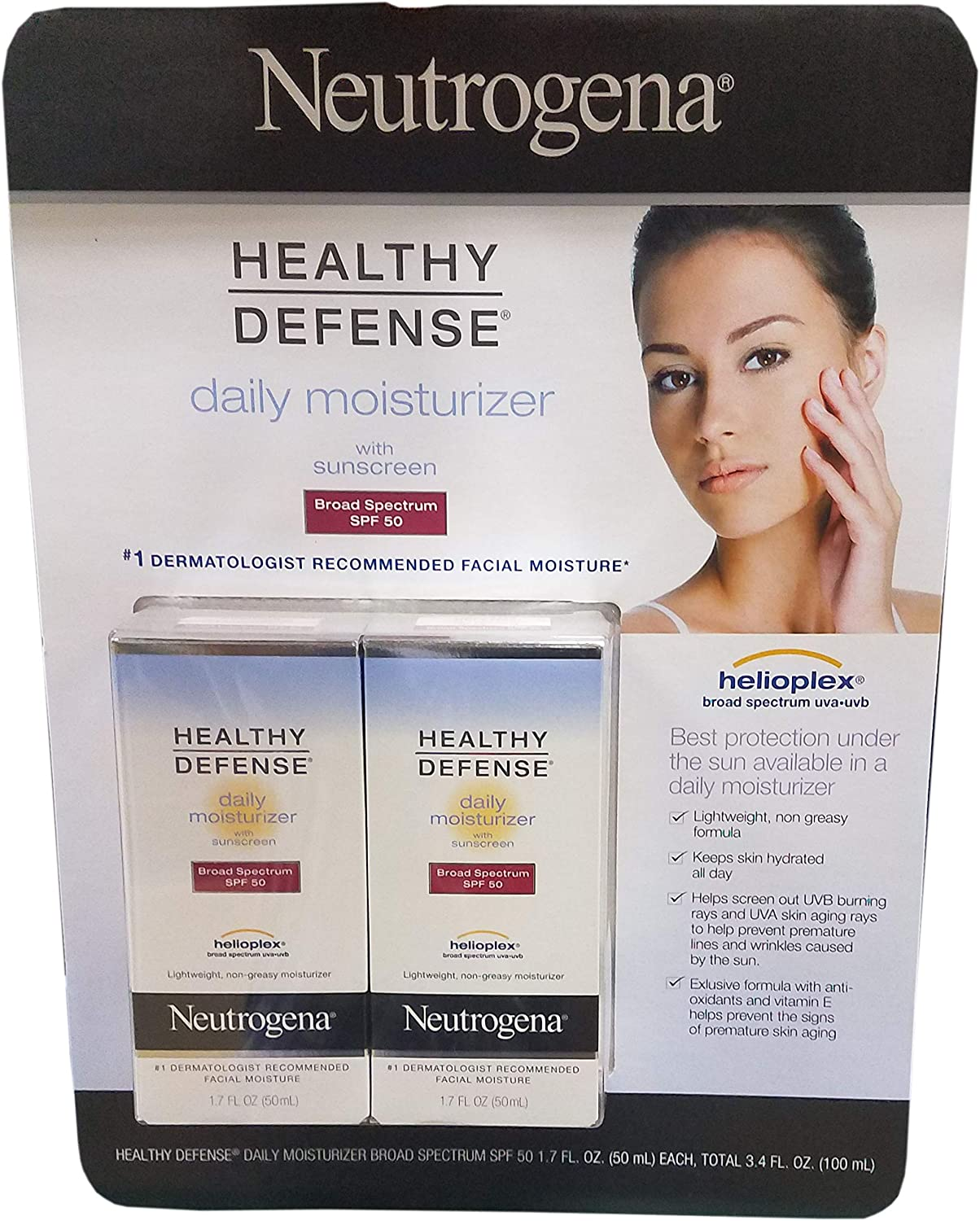 Neutrogena Healthy Defense Daily Moisturizer, 3.4 Ounce