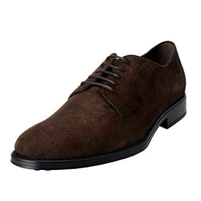 6e5a1096f9 Amazon.com | Tod's Men's Suede Brown Derby Fondo Oxfords Shoes US 7.5 IT  6.5 EU 40.5; | Oxfords