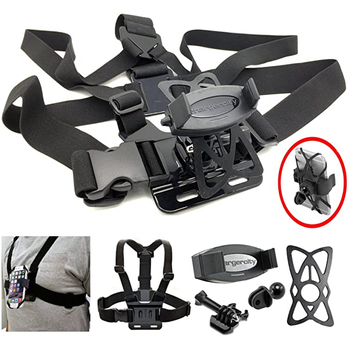 the latest 01aad 57065 ChargerCity Adjustable GoPro Hero 6 5 4 Session Fusion Black Camera Chest  Strap Mount for Apple iPhone XR XS MAX X 8 7 Plus Samsung Galaxy S9 Note ...