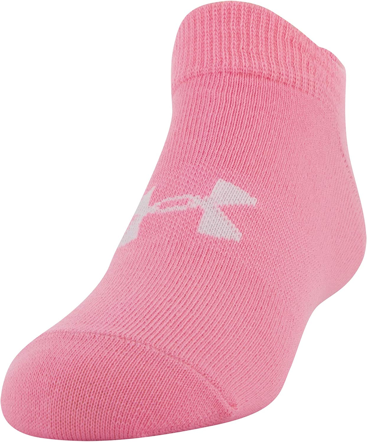 Under Armour Youth Essential 2.0 No Show Socks, 6-Pairs , Mojo Pink Assorted , Shoe Size: Youth 13.5K-4Y: Clothing