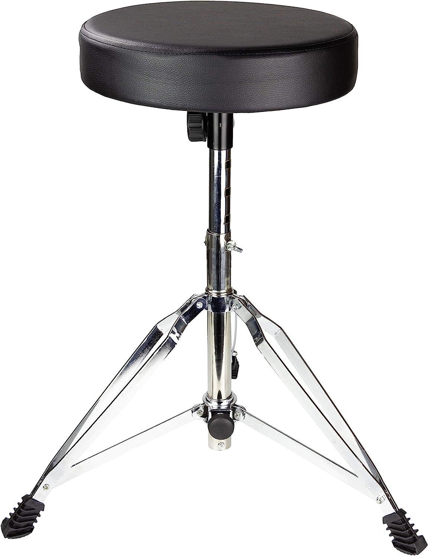 Drum Throne Rockjam ajustable tambor Taburete con asiento acolchado