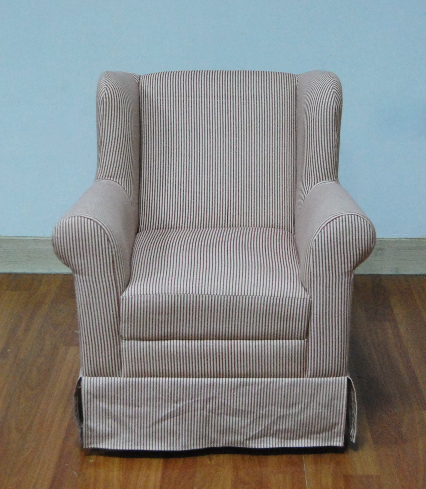 4D Concepts K3837-A287 Boys Wingback Chair with Red Ticking