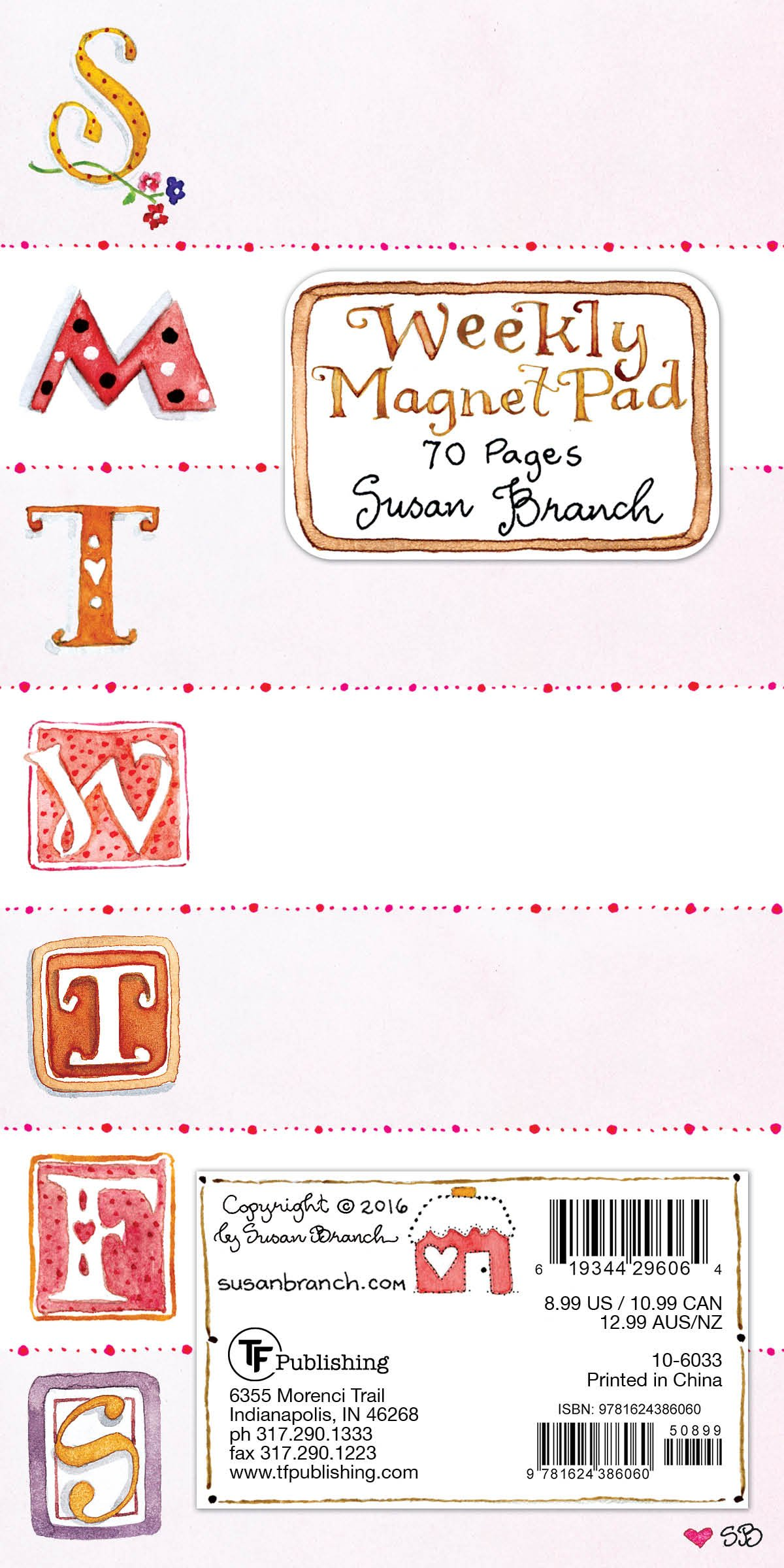 Download Susan Branch Weekly Magnet Pad: 70 Pages ebook