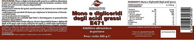 Mono y digliceridi de ácido grasas - Aditivo E471 ad uso alimenticio ...