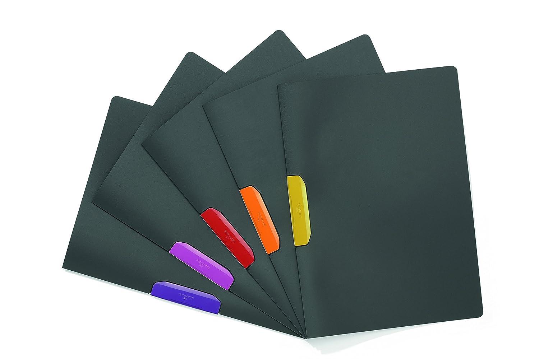 Durable Duraswing Sachet de 5 Chemises /à clip pour documents A4 Couleurs Assorties