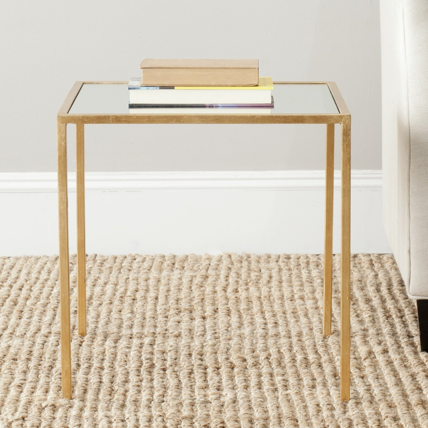 Safavieh Home Collection Kiley Gold Accent Table FOX2525A