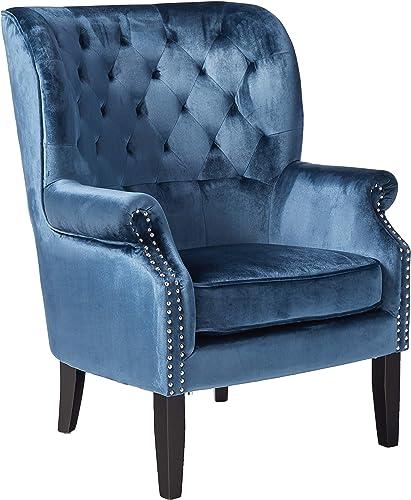 Christopher Knight Home Tomlin Velvet Club Chair, Cobalt