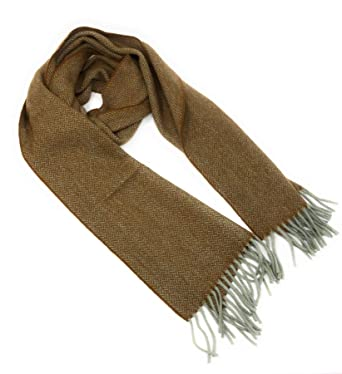 11ee1e268 Gents Luxury Camel Hair Classic Tattersall Winter Scarf Made in UK  1807/025: Amazon.co.uk: Clothing