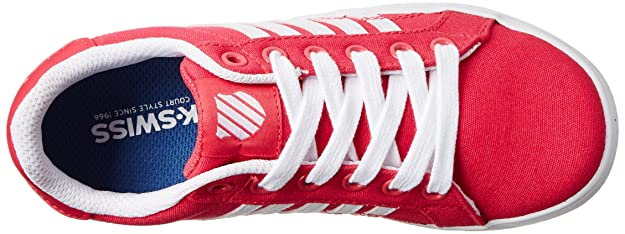 K-Swiss Belmont Textile PS Tennis Shoe (Little Kid),Raspberry/White,12 M US Little Kid