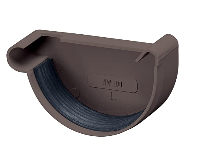 Dachrinne halbrund Kunststoff Regenrinne wei/ß INEFA Halbrundrinne NW 150 200 cm