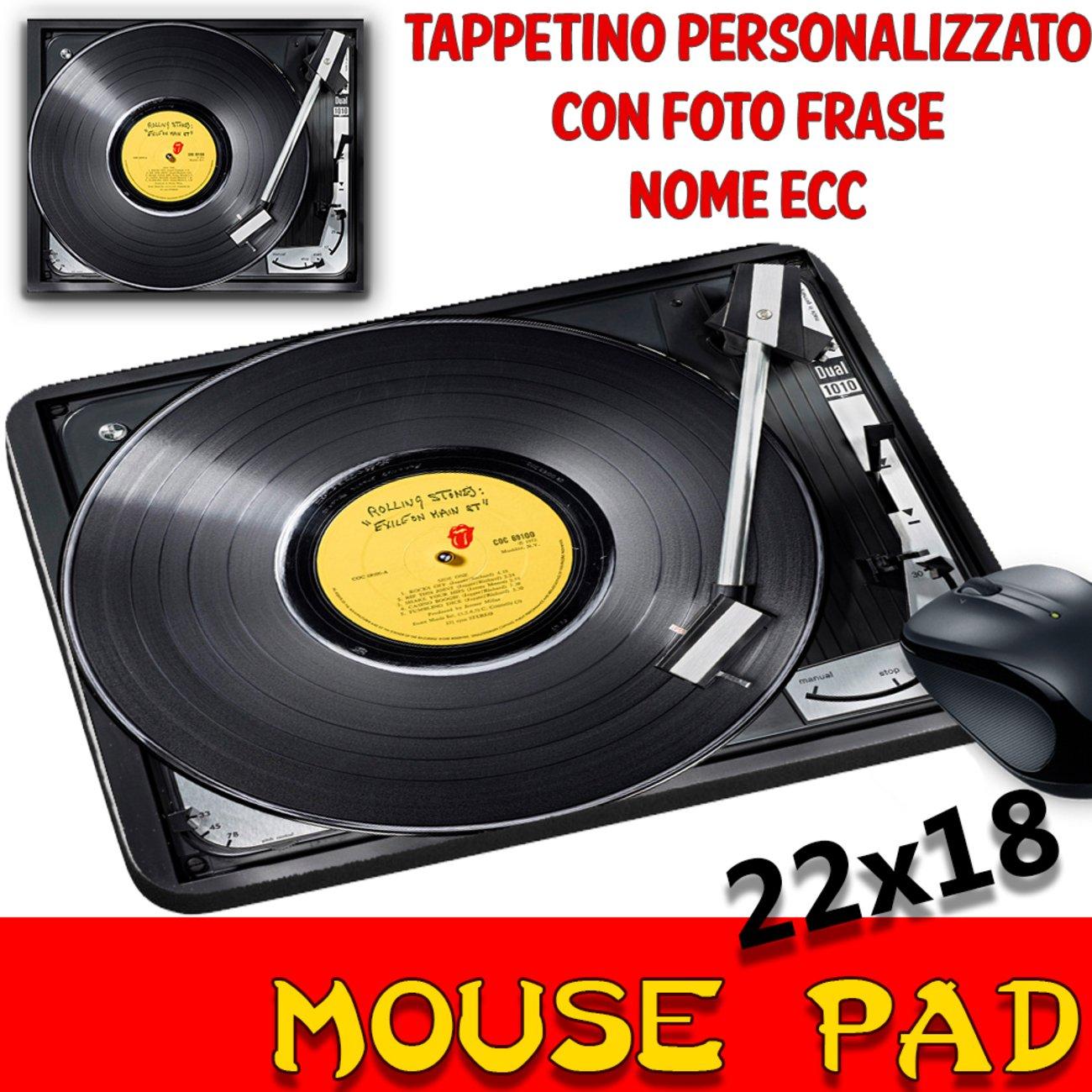 Ratón Pad vinilo Rolling Stones Tocadiscos alfombrilla ...