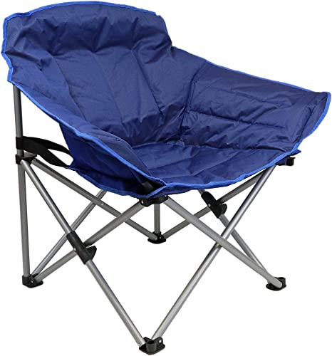 Guidesman Padded Folding Club Chair for Camping Recreation and Dorms Blue