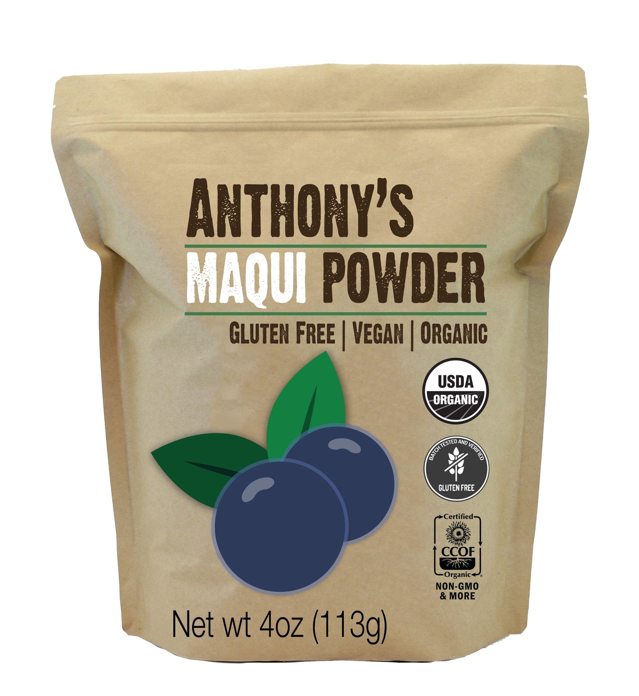 Anthony's Organic Maqui Berry Powder (4oz), Gluten Free, Vegan Friendly, Non-GMO