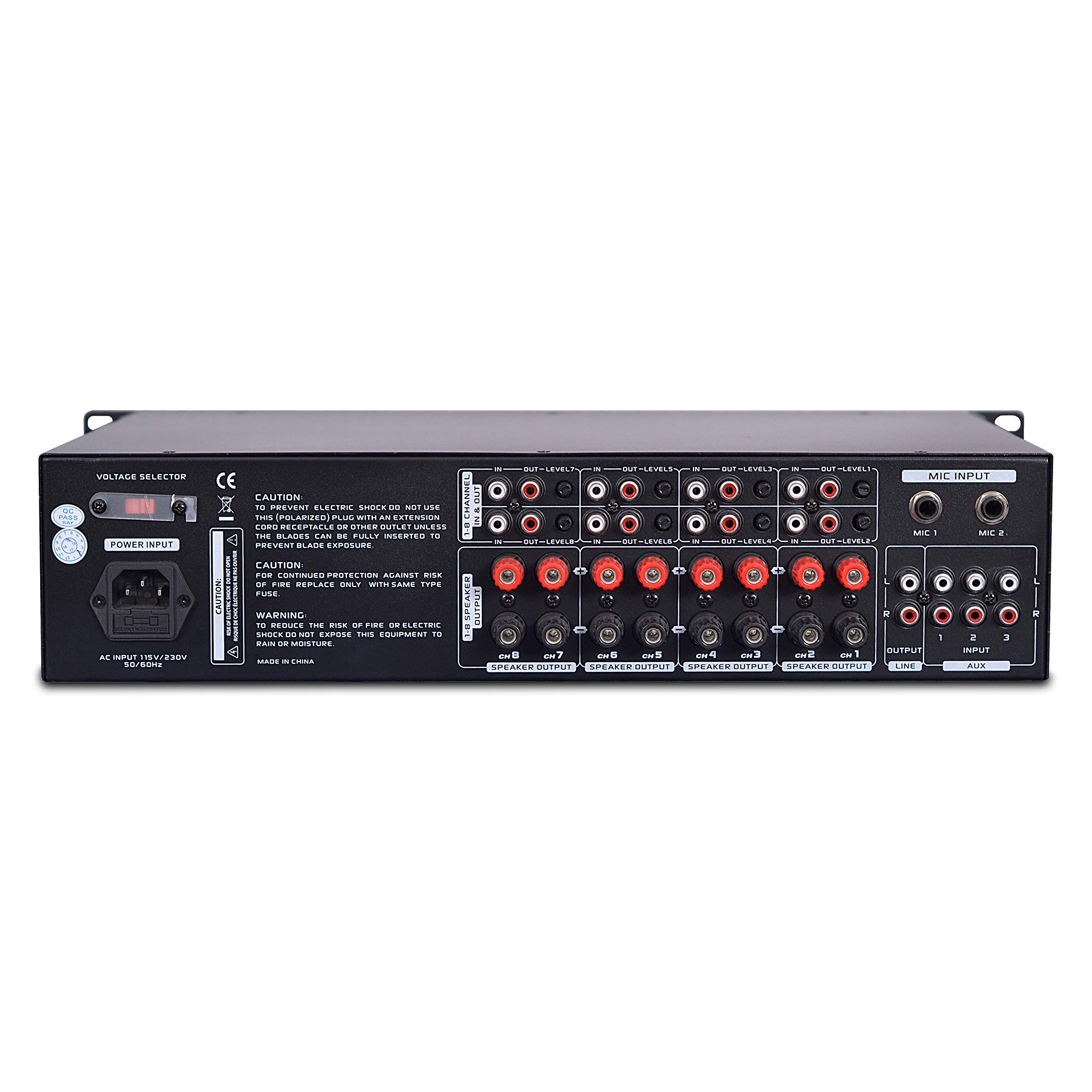 8 Outlet Power Sequencer Conditioner - 2200W Rack Mount Pro Audio Digital Power Supply Controller Regulator w/ Voltage Readout, Surge Protector, For Home Theater, Stage / Studio Use - Pyle PS1200 by Pyle (Image #2)