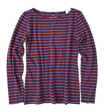 29e13e26d59f85 J Crew Factory - Women's Striped Long Sleeve Artist Tee (XX-Small, Purple