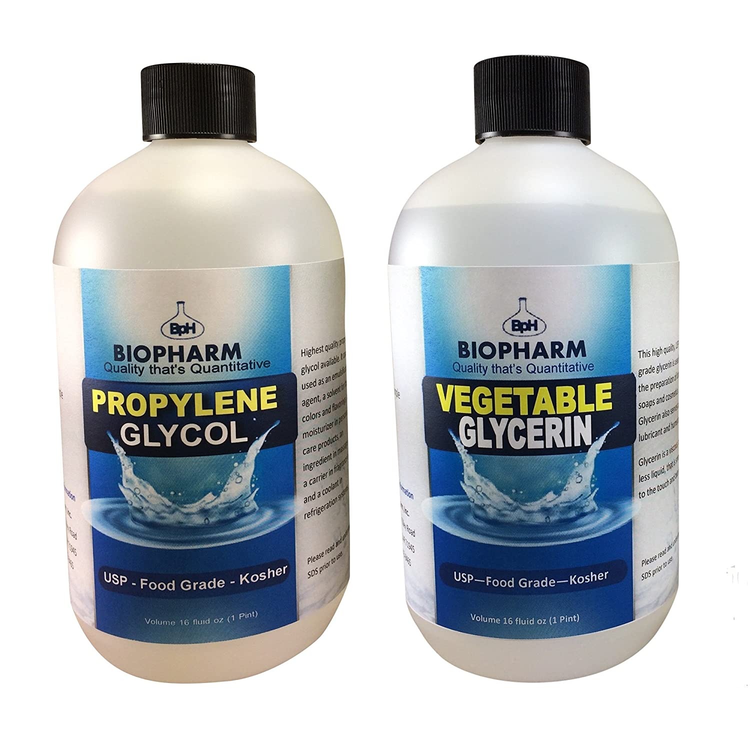 Propylene Glycol and Vegetable Glycerin 2-Pack 500 mL USP-Kosher-Food Grade