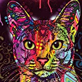 Dean Russo Cat Whiskers Modern Animal Decorative Art Poster Print, Unframed 12x12
