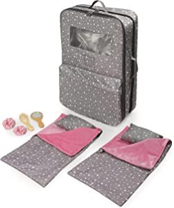 Pack Pretty Double Doll Carrier with 2 Sleeping Bags for 18-inch Dolls (fits American Girl Dolls)