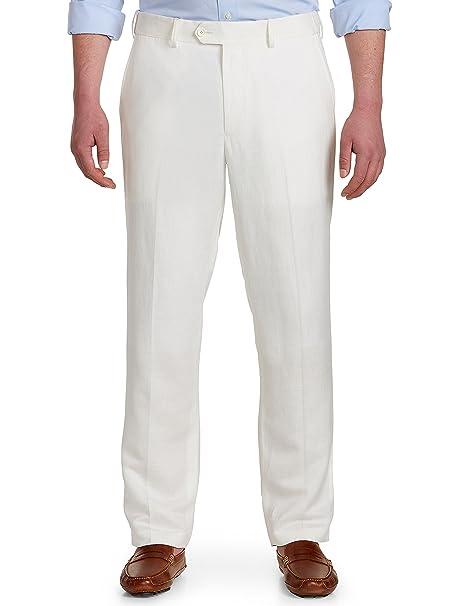 Amazon.com: Roble Hill DXL grande y alto pantalón de lino ...