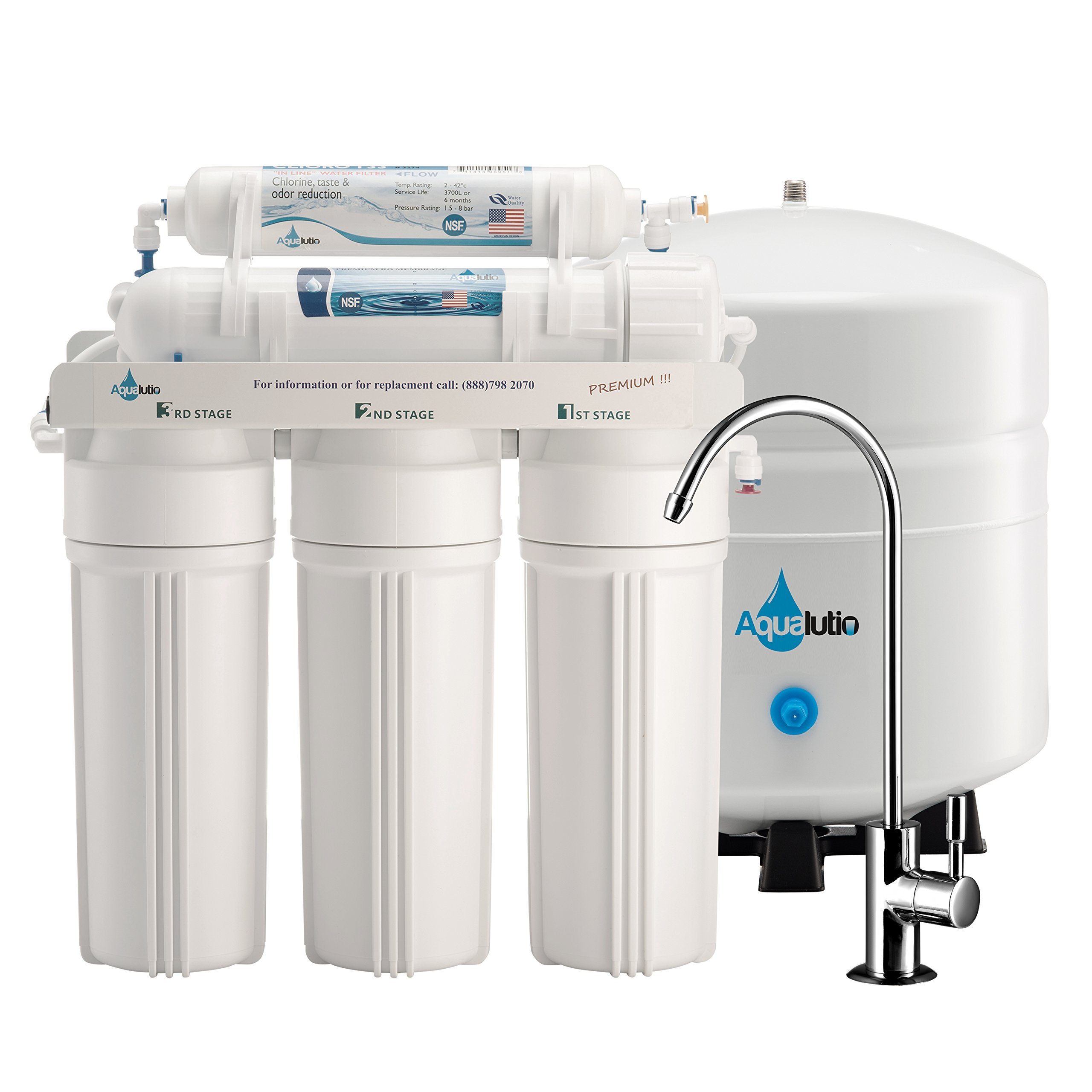 AquaLutio, Premium 5-Stage Reverse Osmosis Filtration Home System For Clean And Healthy Drinking Water Filter System 75 GPD, RO Water Filter System Under Sink & Designer Faucet - Easy Instructions
