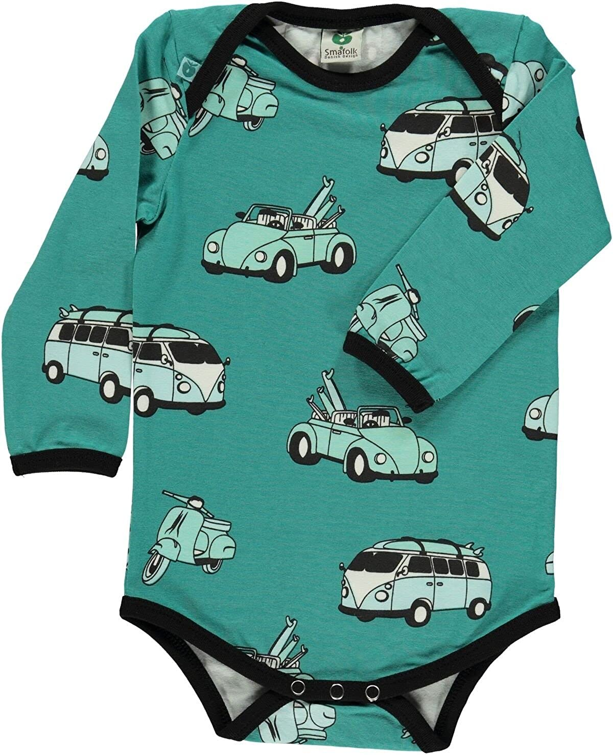 Smafolk Long Sleeved Cars Body - Agate Green
