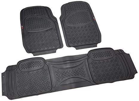 Truck Floor Mats >> Amazon Com Motor Trend Hd Flextough Rubber Floor Mats For Car Truck
