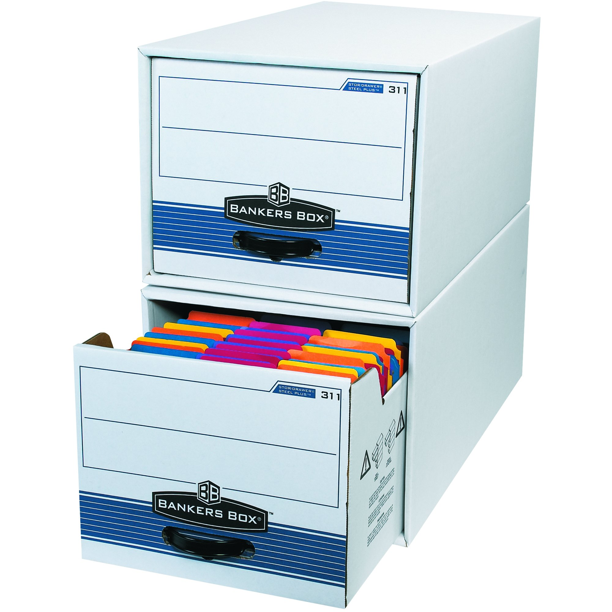 Ship Now Supply SNPFSB700 STOR/DRAWER STEEL PLUS File Storage Drawers, 24''L x 12''W x 10''H, White (Pack of 6)