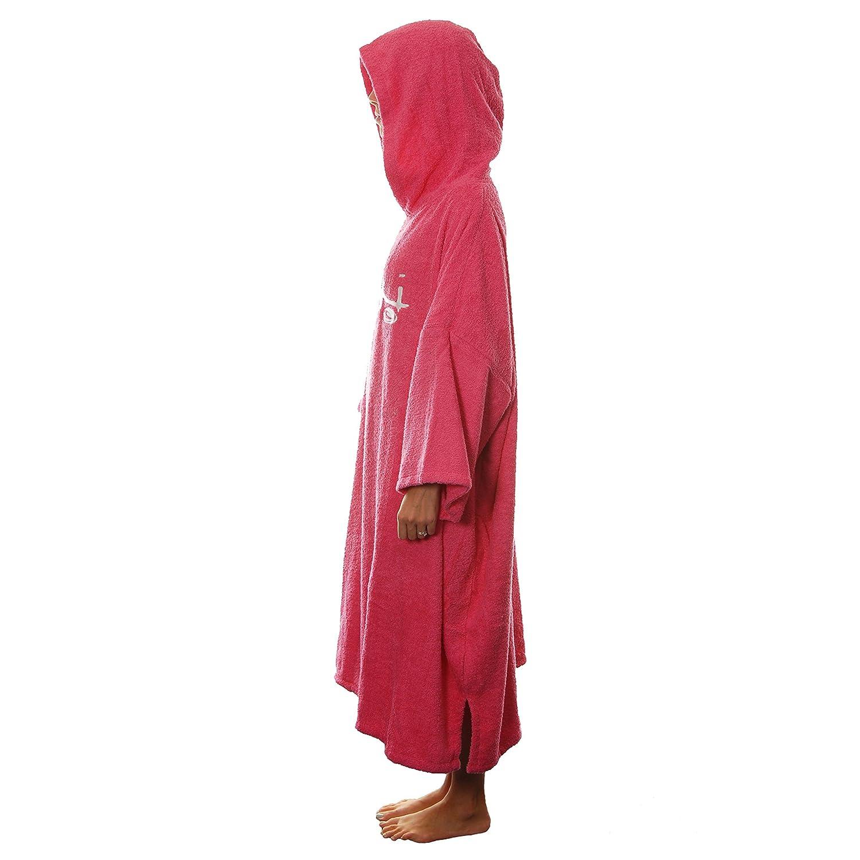 787149675e Amazon.com   Tiki Adult Womens Hooded Towelling Changing Robe Ladies Beach  Swim Poncho Pink   Sports   Outdoors