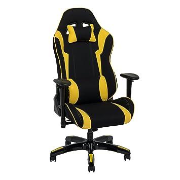 Amazon.com: CorLiving lof-808-g silla de Juegos de carreras ...
