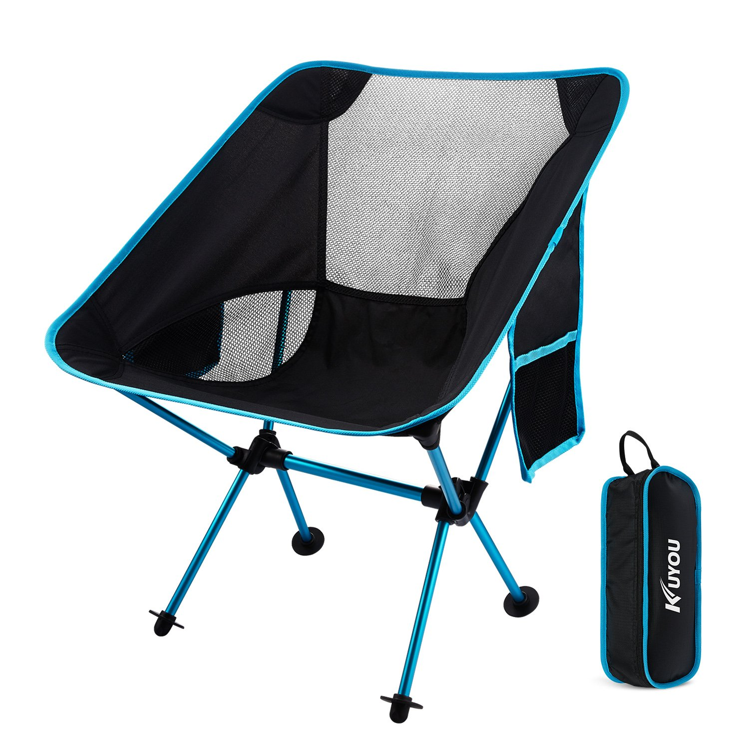 Outdoor Fold Up Chairs,Compact Folding Chairs Ultralight Portable Chair  With Carry Bag For Hiker/ Camping/ Beach /Fishing /Outdoor Picnic