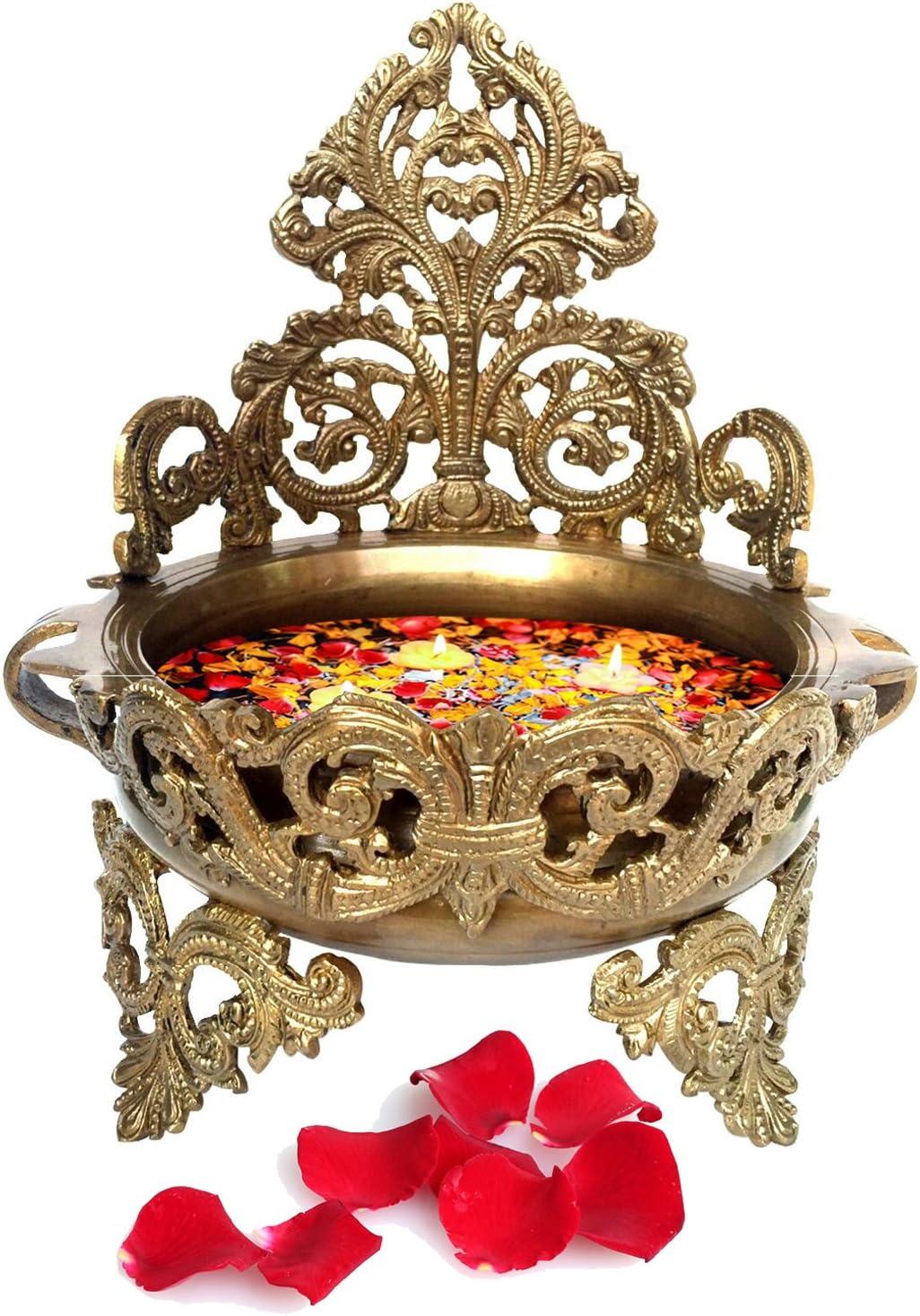 Decorative Brass Urli - Floating Flower Pot