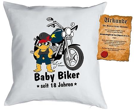 18º cumpleaños regalo funda almohada Baby Biker desde 18 ...
