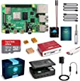 LABISTS Raspberry Pi 4 Complete Starter Kit with Pi 4 Model B 4GB RAM Board, 32GB Micro SD Card Preloaded Noobs, 5V 3A Power Supply, Case, HDMI Cable, SD Card Reader (USB A&USB C), Fan, Heatsinks