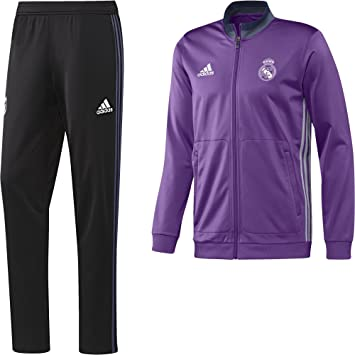 Adidas Real PES Suit - Survêtement - Ligne Real Madrid CF Homme, Violet  Blanc 7376b178a7f2