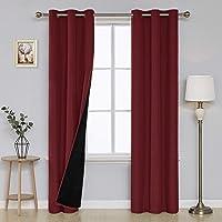 Deals on Deconovo Room Darkening Curtains Faux Curtain 38x84-in 2 Panels