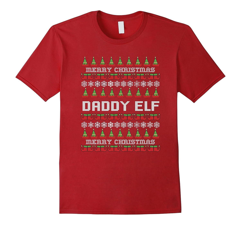 Christmas Family Shirt Set Daddy Elf T-Shirt Couples Shirts-RT