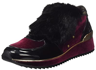 COOLWAY Rock, Sneakers Basses Femme, Rouge (Bur), 39 EU